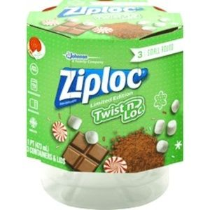 ZIPLOC Holiday Themed Twist N Loc Containers